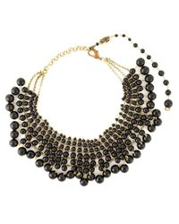 Rosantica - Black Beaded Collar Necklace - Lyst