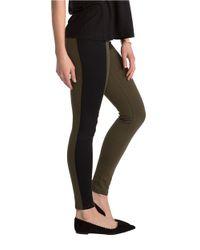 Spanx - Green Textured Panel Leggings - Lyst