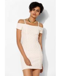 Silence + Noise - Natural Silence Noise Lace Offtheshoulder Bodycon Dress - Lyst