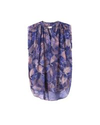 Rebecca Taylor - Purple Sonic Garden Sleeveless Silk Top - Lyst