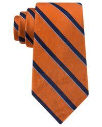 Tommy Hilfiger | Orange Repp Stripe Tie for Men | Lyst
