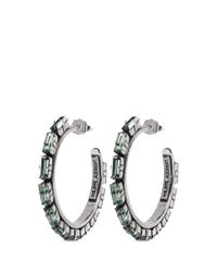 Philippe Audibert - Metallic 'paola' Crystal Strass Hoop Earrings - Lyst
