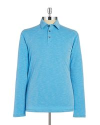Tommy Bahama | Blue Long-sleeve Polo for Men | Lyst