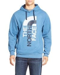 The North Face - Blue 'trivert' Hoodie for Men - Lyst
