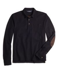 Brooks Brothers - Black Long-sleeve Oxford Polo Shirt for Men - Lyst