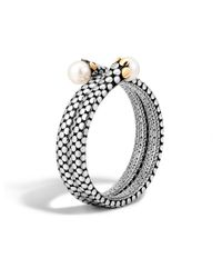 John Hardy | Gray Dot Double Coil Bracelet | Lyst