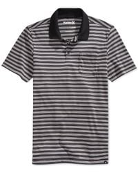 Hurley | Black Dri-fit Pier Polo for Men | Lyst