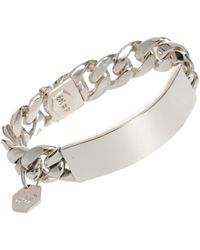 Ann Dexter-Jones | Metallic Id Bracelet | Lyst