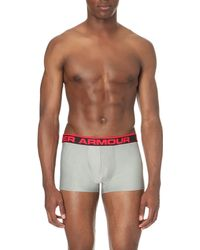 Under Armour - Gray Branded Stretch-jersey Trunks for Men - Lyst