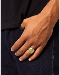 Stussy | Metallic Logo Ring for Men | Lyst