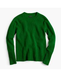 J.Crew - Green Collection Cashmere Saddle Sweater - Lyst
