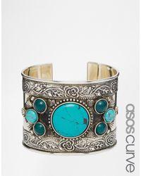 Asos Curve | Multicolor Boho Stone Cuff Bracelet | Lyst