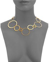 Herve Van Der Straeten | Metallic Circle Collar Necklace | Lyst
