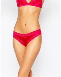 Stella McCartney | Red Stella Mccartney Clara Whispering Thong | Lyst