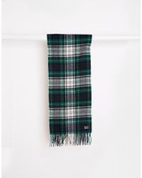Minimum | Check Wool Scarf - Green for Men | Lyst