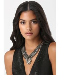 Bebe | Multicolor Crystal Pendant Necklace | Lyst