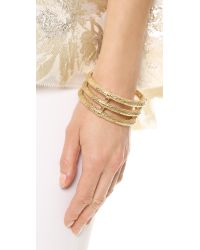 Aurelie Bidermann - Metallic Lafayette Bracelet - Gold - Lyst
