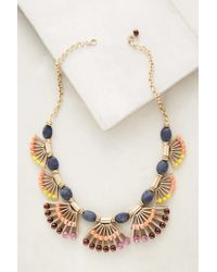 Anthropologie | Blue Fanned Lapis Necklace | Lyst