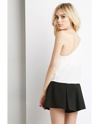 Forever 21 - White Chiffon One-shoulder Top - Lyst