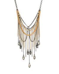 ABS By Allen Schwartz - Metallic Bitter Not Sweet Draped Chain Fringe Bib Necklace - Lyst