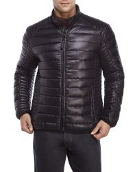Marc New York | Black Packable Down Moto Jacket for Men | Lyst