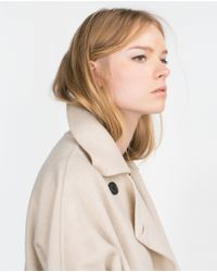 Zara | Natural Hand Made Coat | Lyst