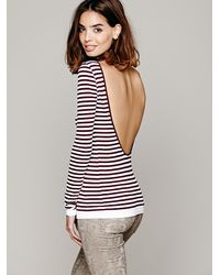 Intimately Striped Low Back Top in Brown - Lyst a337081b7