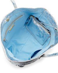 Cynthia Rowley - Metallic Hayden Striped-trim Leather Tote Bag - Lyst