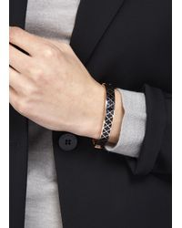 Halcyon Days | Black Agama Rose Gold Plated Bangle | Lyst