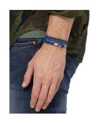 Miansai - Blue Woven-Leather Wrap Bracelet for Men - Lyst