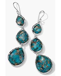 Ippolita | Blue 'rock Candy' Triple Teardrop Earrings | Lyst