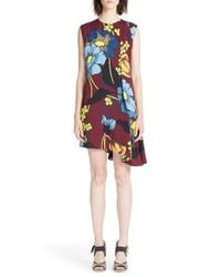 Marni - Multicolor 'melody' Asymmetrical Floral Print Dress - Lyst