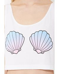 Forever 21 | White Myvl Shell Bra Crop Top | Lyst