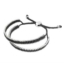 Links of London | Double Wrap Friendship Bracelet - Black | Lyst