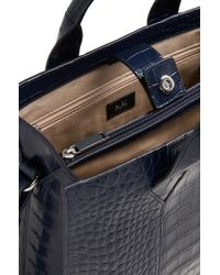 HUGO - Blue 'valerie-c' | Leather Shopper With Detachable Strap - Lyst