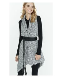 Express - Black Braided Obi Belt - Lyst