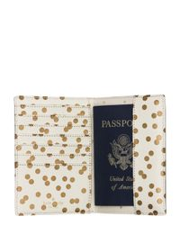 kate spade new york - Natural Cedar Street Confetti Dot Travel Passport Holder - Lyst