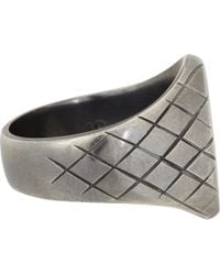 Bottega Veneta | Metallic Sterling Silver Chevalier Ring for Men | Lyst