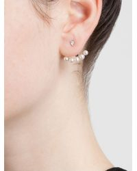 Yvonne Léon - 18Kt White Gold Mini Pearl Lobe Earring - Lyst