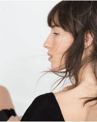 Zara | Black Double V-neck Sweater | Lyst