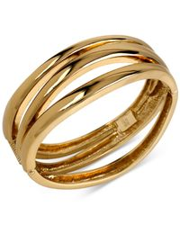Robert Lee Morris | Metallic Bronze-tone Sculptured Bangle Bracelet | Lyst