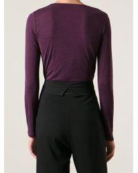 Ann Demeulemeester Blanche - Purple 'Pureness' T-Shirt - Lyst