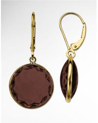 Lord & Taylor | Metallic Smoky Quartz Earrings In 14k Yellow Gold | Lyst