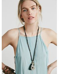 Free People - Green Side By Side Slip - Lyst