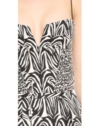 Nicholas - Zebra Jacquard Crop Top Blackwhite - Lyst