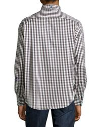 Robert Graham - Gray Mckenzie Check Shirt for Men - Lyst