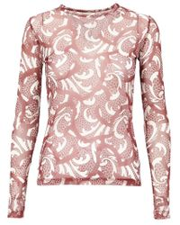 Dries Van Noten - Red Sheer Printed T-shirt - Lyst