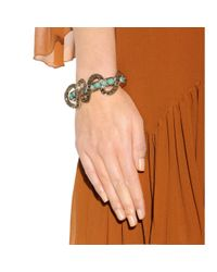 Roberto Cavalli | Metallic Crystal Embellished Bracelet | Lyst