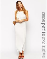 ASOS - Natural Lightweight Holiday Maxi Dress In Rib - Lyst