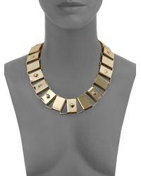 ABS By Allen Schwartz   Metallic Sensation Plaque Collar Necklace   Lyst